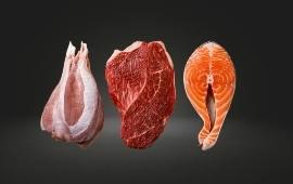 Vlees en vis assortiment
